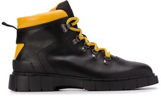 Car Shoe Colour-Block Ankle Boots
