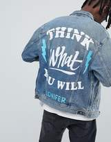 Lee X Conifer Oversized Rider Denim Jacket