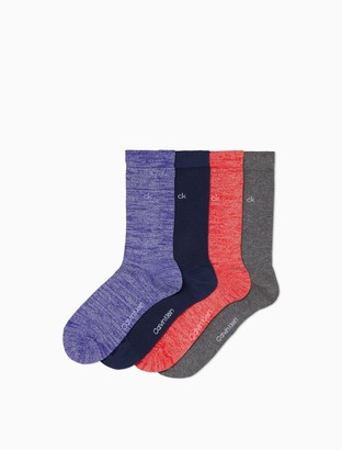 Calvin Klein Sparkle 4-Pack Logo Crew Socks