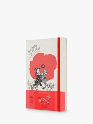 Moleskine Large Wizard of Oz Poppy Field Notebook