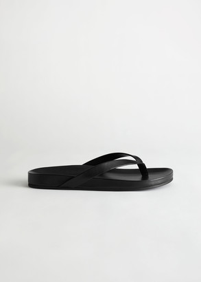 And other stories Leather Flatform Flip Flop Sandals