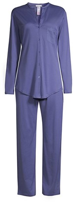 Hanro Cotton Deluxe Long Sleeve Pajama