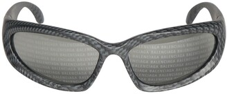 Balenciaga Swift Oval 0157s Monogram Sunglasses