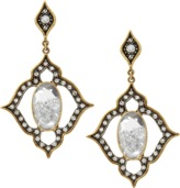 Moritz Glik Diamond and Sapphire Filigree Earrings