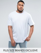 Puma Plus Waffle Oversized T-shirt In Blue Exclusive To Asos