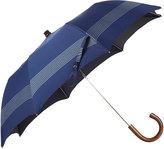 Barneys New York Men's Striped Folding Umbrella-NAVY