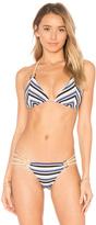 Beach Bunny Out of Line Tri Bikini Top
