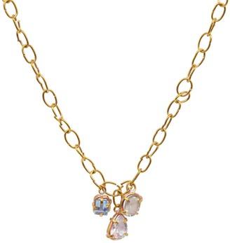 Lily Flo Jewellery Sabrina Blue Topaz, White Topaz & Green Amethyst Necklace