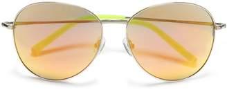 Matthew Williamson Aviator-style Acetate Mirrored Sunglasses