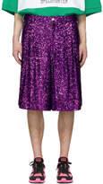 Comme des Garcons Purple Sequin Shorts