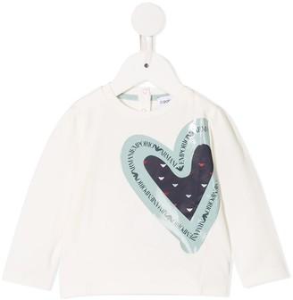 Emporio Armani Kids Logo Heart Print Top