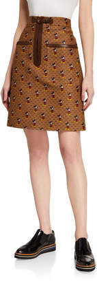 Gucci x Disney Mickey Mouse Canvas Skirt