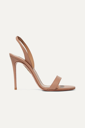 Aquazzura So Nude 105 Leather Slingback Sandals - Blush