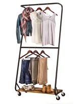 Honey-Can-Do Rustic Z-Frame Garment Rack
