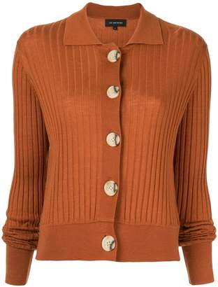 Lee Mathews ribbed sheer cardigan