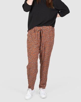Love Your Wardrobe Erin Leopard Print Pants
