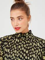 Very Gold Dobby Spot Sheer Blouse - Black