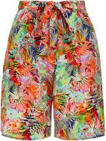 Saloni Loretta Jungle Print Silk Shorts