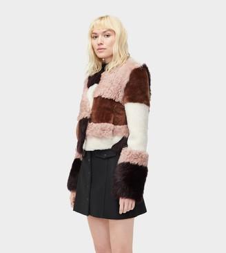 UGG Hal Patchwork Short Fur Jacket