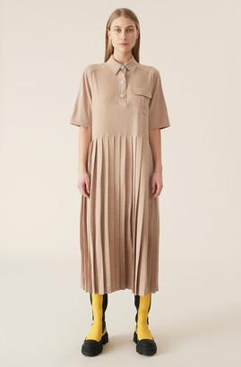 Ganni Melange Suiting Dress