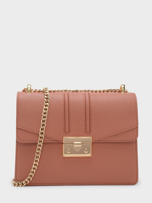 Charles & Keith Push-Lock Shoulder Bag