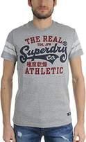 Superdry Mens Real Tokyo T-Shirt, Size:, Color: Grit Grey Jasper