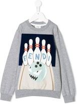 Fendi monster bowl print sweatshirt