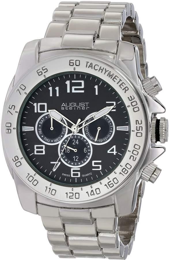 August Steiner Men's AS8095SSB Analog Display Swiss Quartz Silver Watch