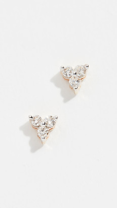 Adina 14k Gold Diamond Cluster Earrings