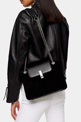 Topshop Womens Sophie Suede Shoulder Bag - Black