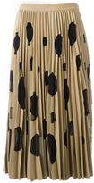 MSGM polka dot pleated skirt