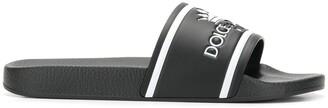 Dolce & Gabbana Crown Logo Embossed Slides