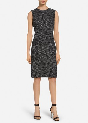 St. John Marled Ribbon Tweed Knit Dress