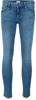 Mother The Looker Ankle Frayed Jeans - Blue