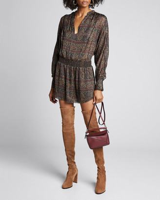 Frame Paisley Long-Sleeve Party Dress