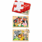 Melissa & Doug 3-pc. Farm And Zoo Puzzle Keeper