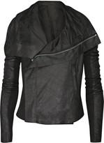 Blister leather biker jacket