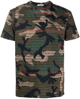 Valentino camouflage print cotton T-shirt