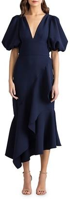 Shoshanna Wades Puff-Sleeve Dress