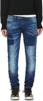 Diesel Blue Tepphar Patch Jeans