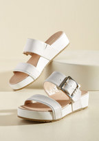 On My Buckle List Sandal in Ivory in 8.5