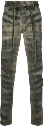 Fear Of God Zebra Stripe Skinny Jeans
