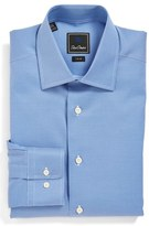 David Donahue Trim Fit Texture Dress Shirt