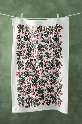 Rifle Paper Co. Holiday Dish Towel By in Green Size DISHTOWEL