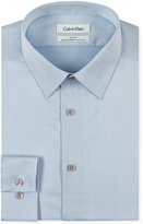 Calvin Klein STEEL Men's Slim-Fit Non-Iron Performance Herringbone Dress Shirt