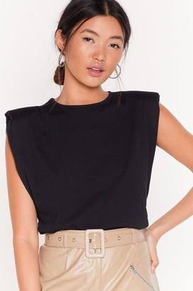 Nasty Gal Womens Chip On Your Shoulder Jersey vest Top - Black - 8