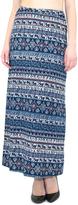 Blue Geometric Maxi Skirt