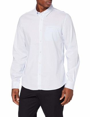Springfield Men's Ds Stripe NAT Strech Casual Shirt