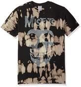 FEA Men's Misfits Classic Fiend Skull W/Big Bleach Spots T-Shirt