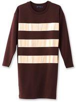 Petit Bateau Womens metallic striped dress